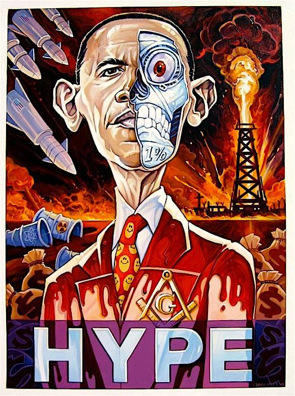 trump art dave macdowell obama obey they live hope hype
