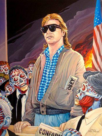 Trump art Dave MacDowell They Live Roddy Piper John Carpenter obey