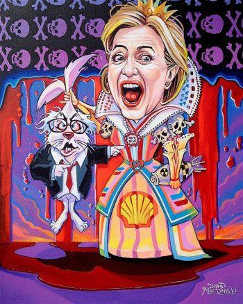 trump art dave macdowell Hillary Clinton HRC