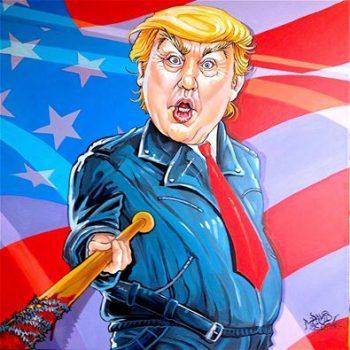 Trump art Dave MacDowell TWD The Walking Dead Negan Lucille