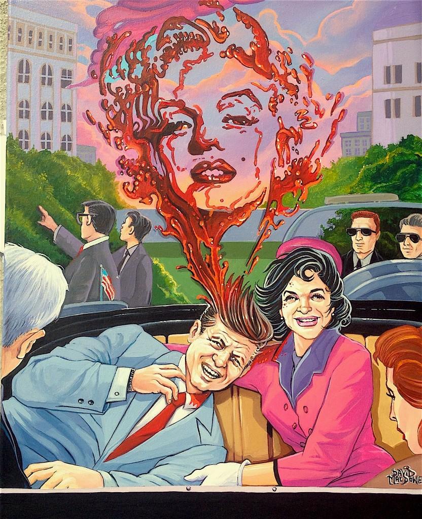 Trump art Dave MacDowell JFK Jackie Marilyn