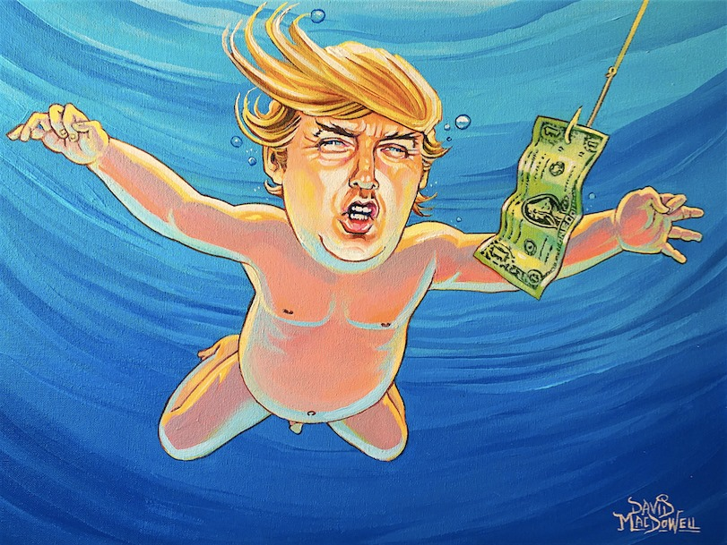 Trump art Dave MacDowell
