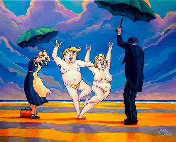 Trump art Dave MacDowell Hillary